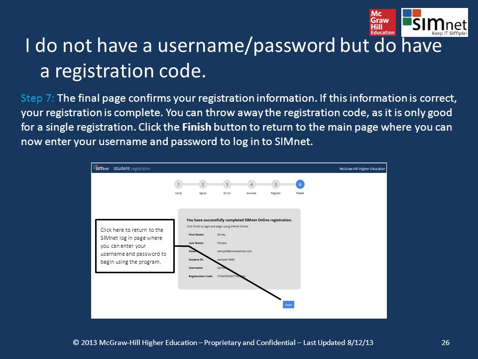 I do not have a username/password but do have a registration code.
