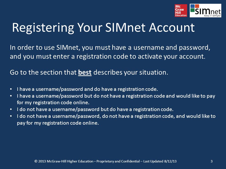 Registering Your SIMnet Account