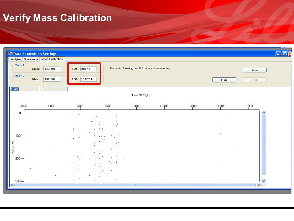 Verify Mass Calibration