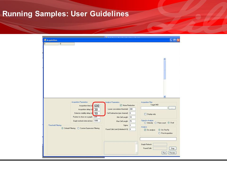 Running Samples: User Guidelines