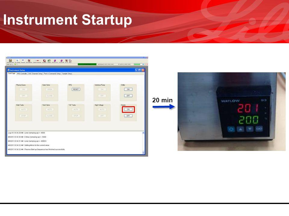3/31/2017 Instrument Startup 20 min