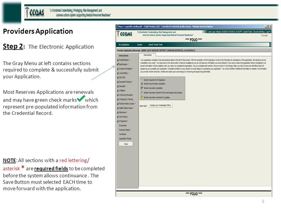 Providers Application