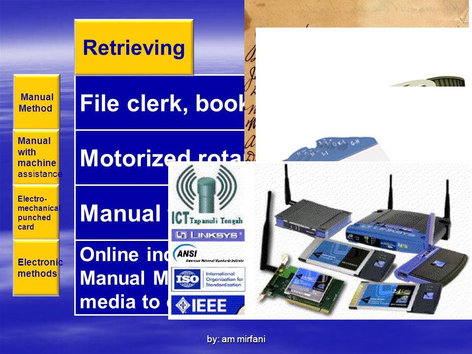 Motorized rotary files, microfilm