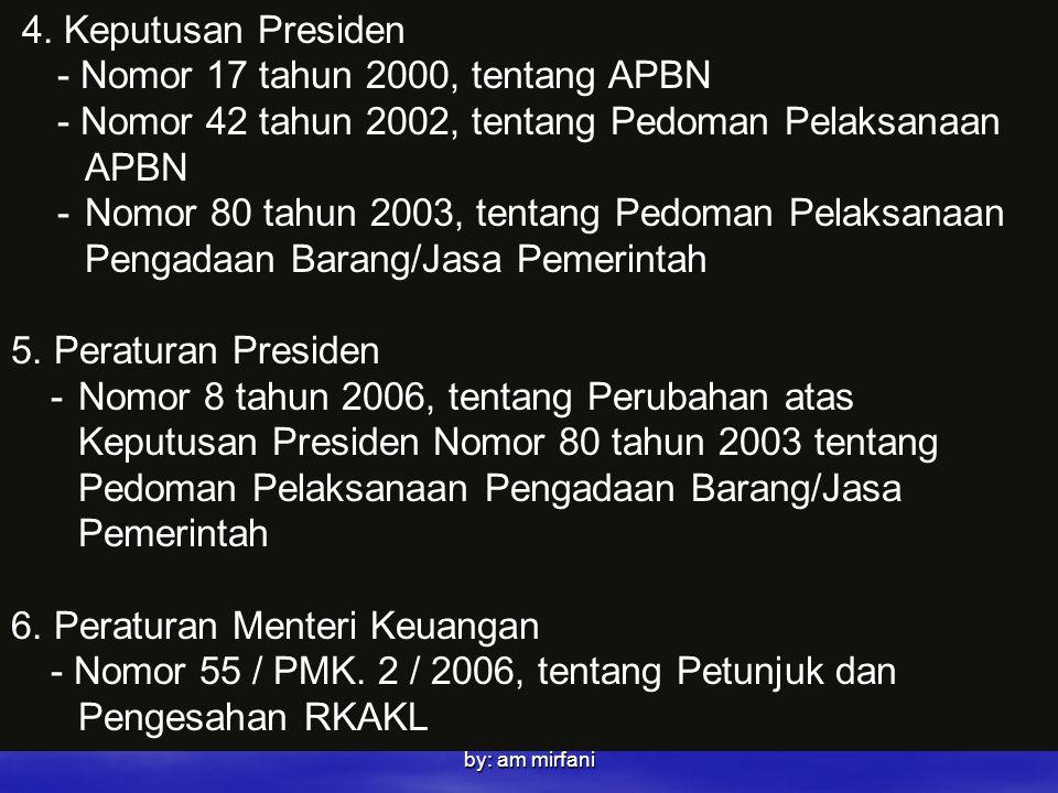 - Nomor 17 tahun 2000, tentang APBN