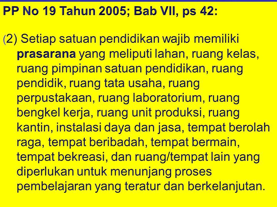 PP No 19 Tahun 2005; Bab VII, ps 42: