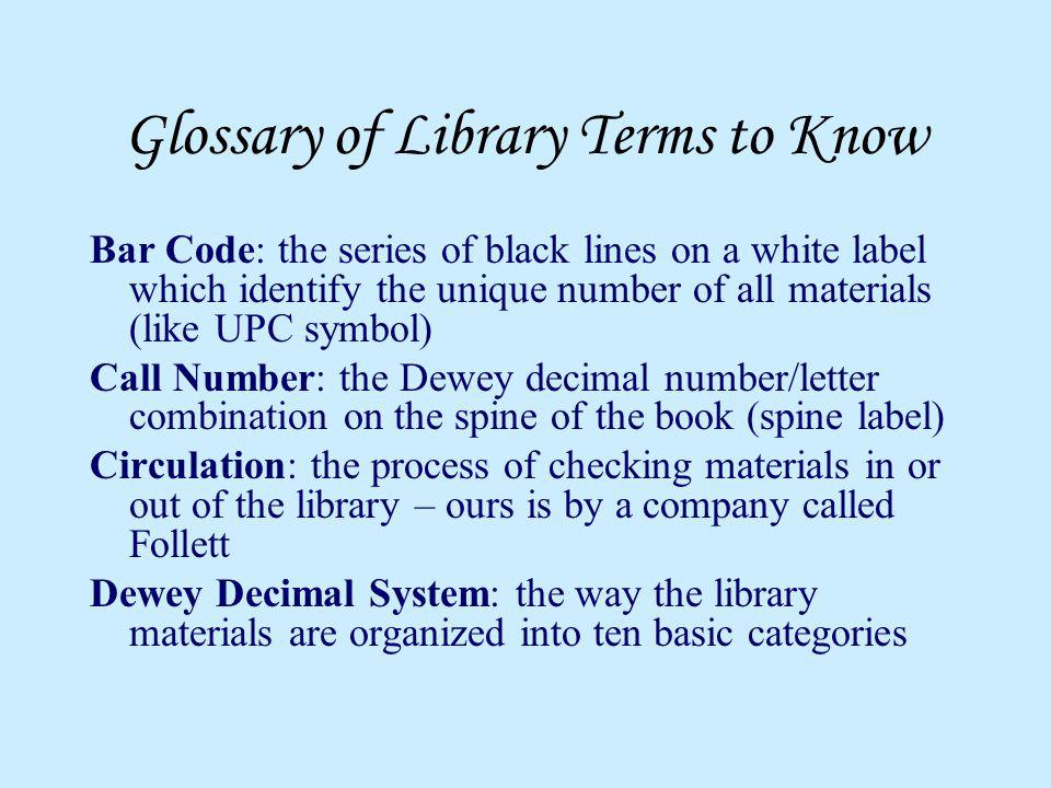 Glossary of Library Terms to Know