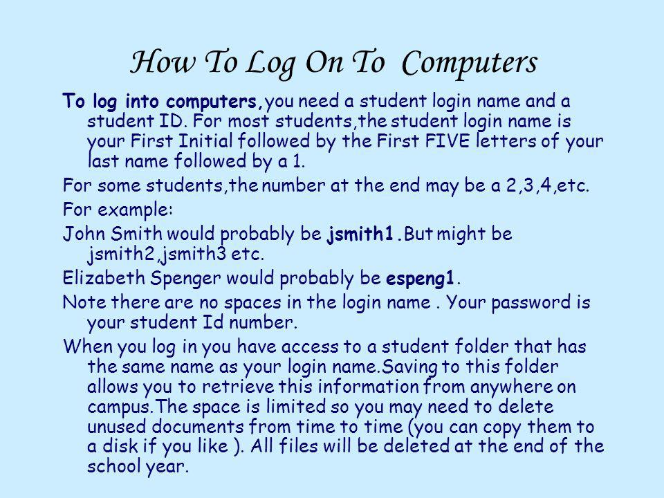 How To Log On To Computers