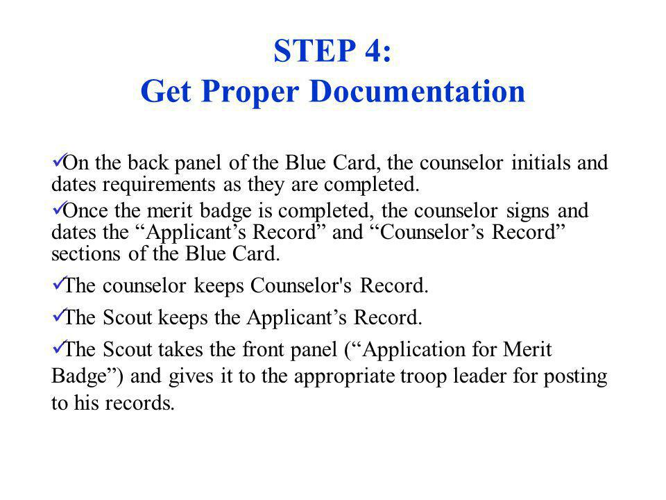 STEP 4: Get Proper Documentation