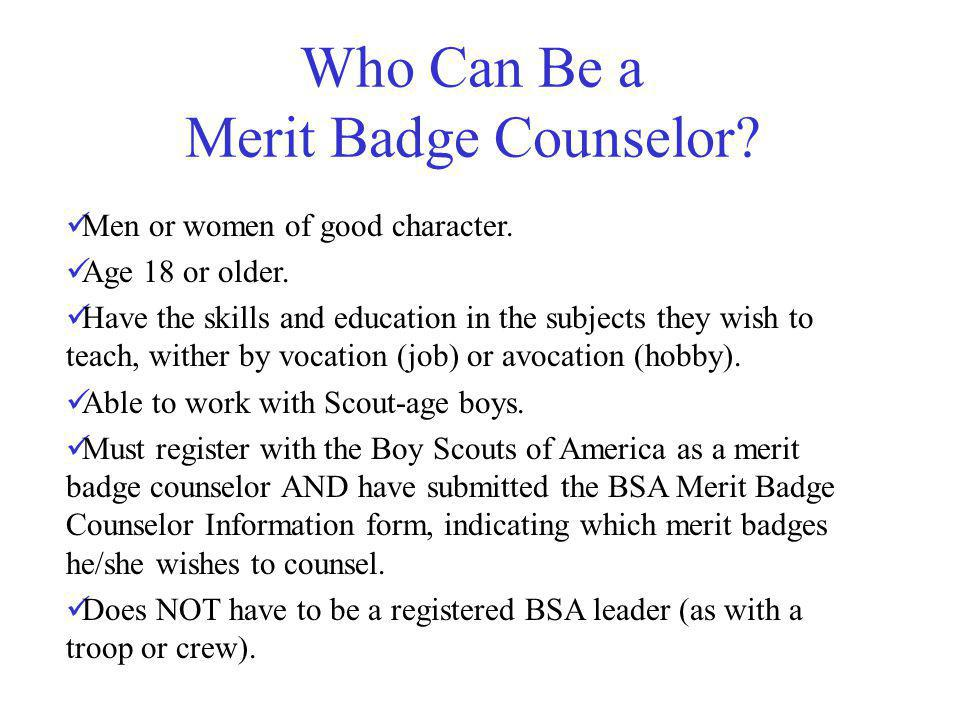 Troop 780 Merit Badge Counselor Orientation. - ppt video online ...
