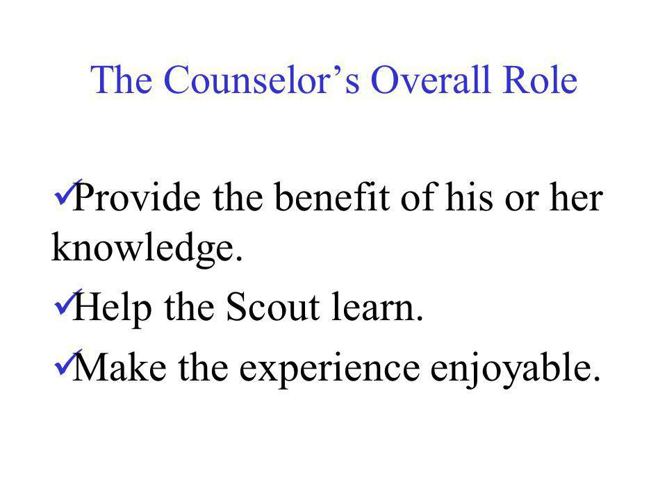 The Counselor's Overall Role