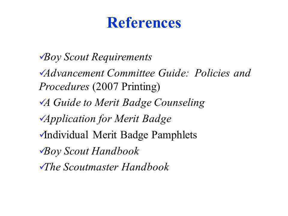 References Boy Scout Requirements