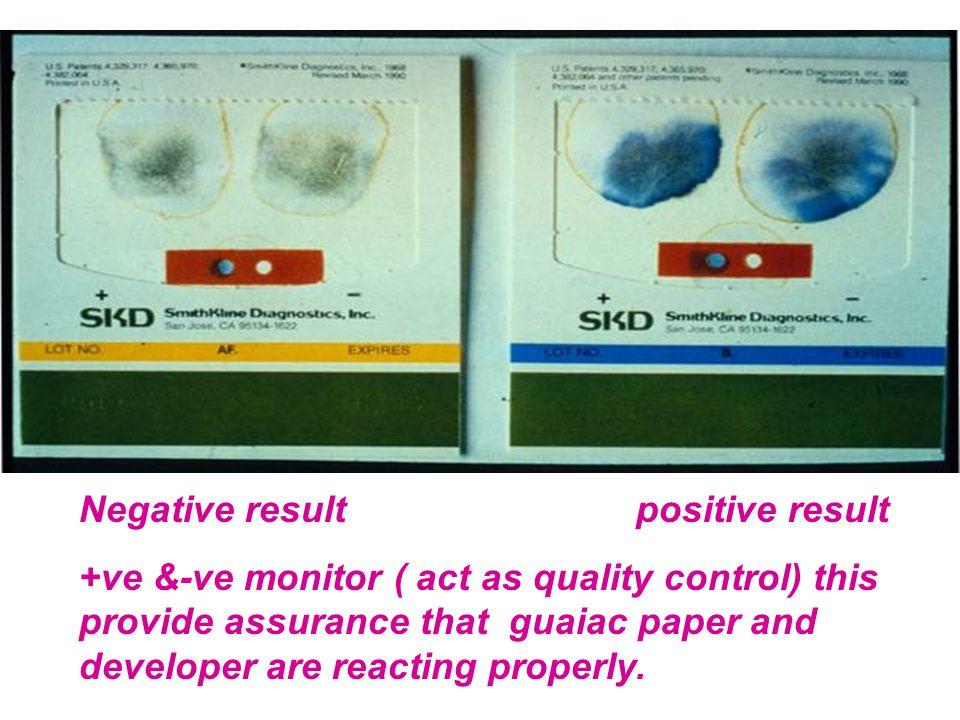 Negative result positive result