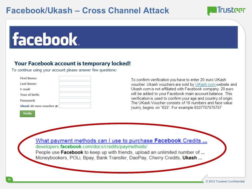 Facebook/Ukash – Cross Channel Attack