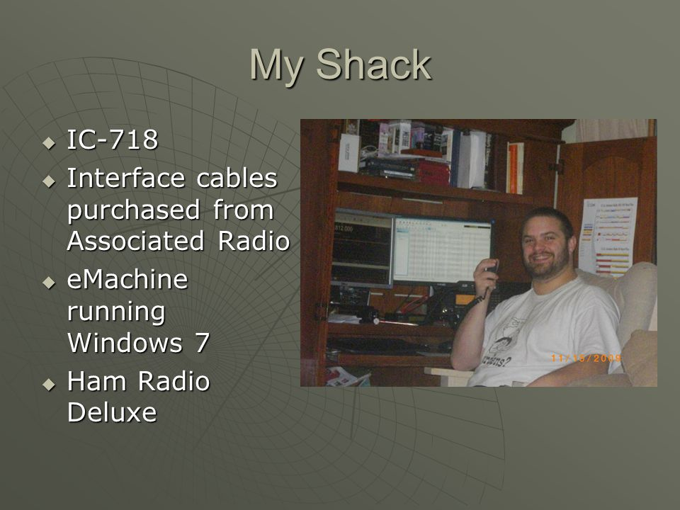 My Shack IC-718 Interface cables purchased from Associated Radio