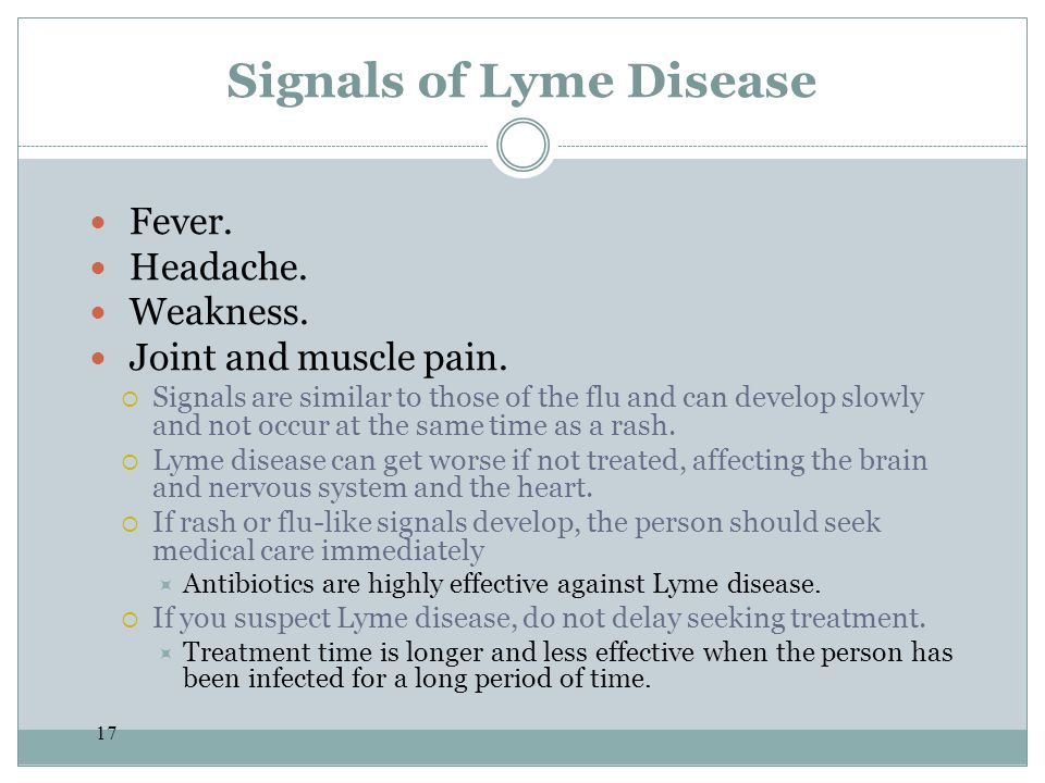 Signals of Lyme Disease