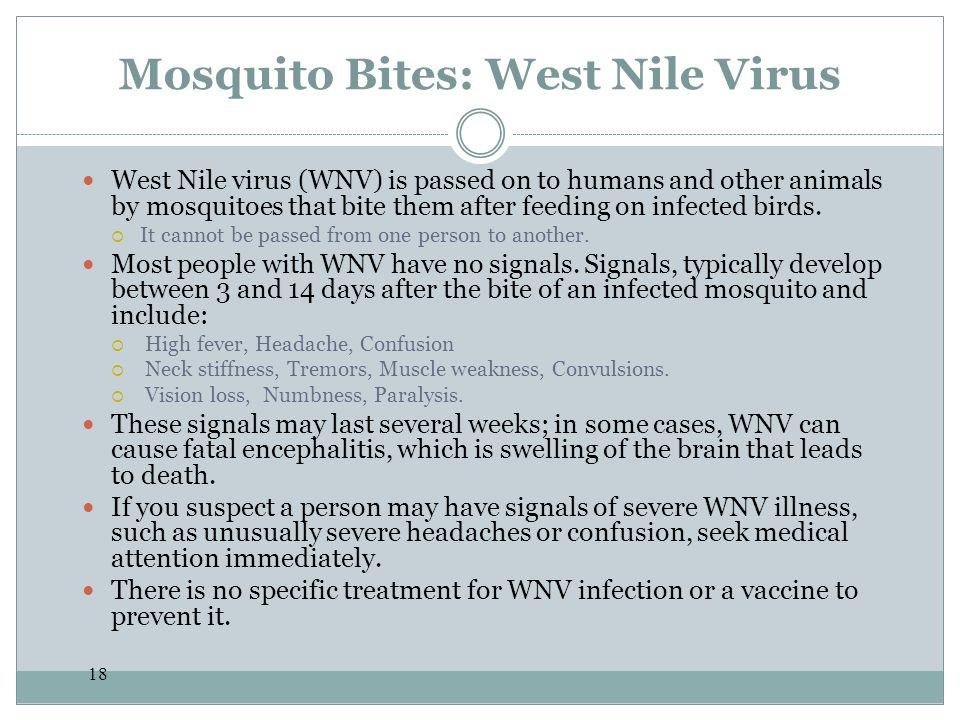 Mosquito Bites: West Nile Virus