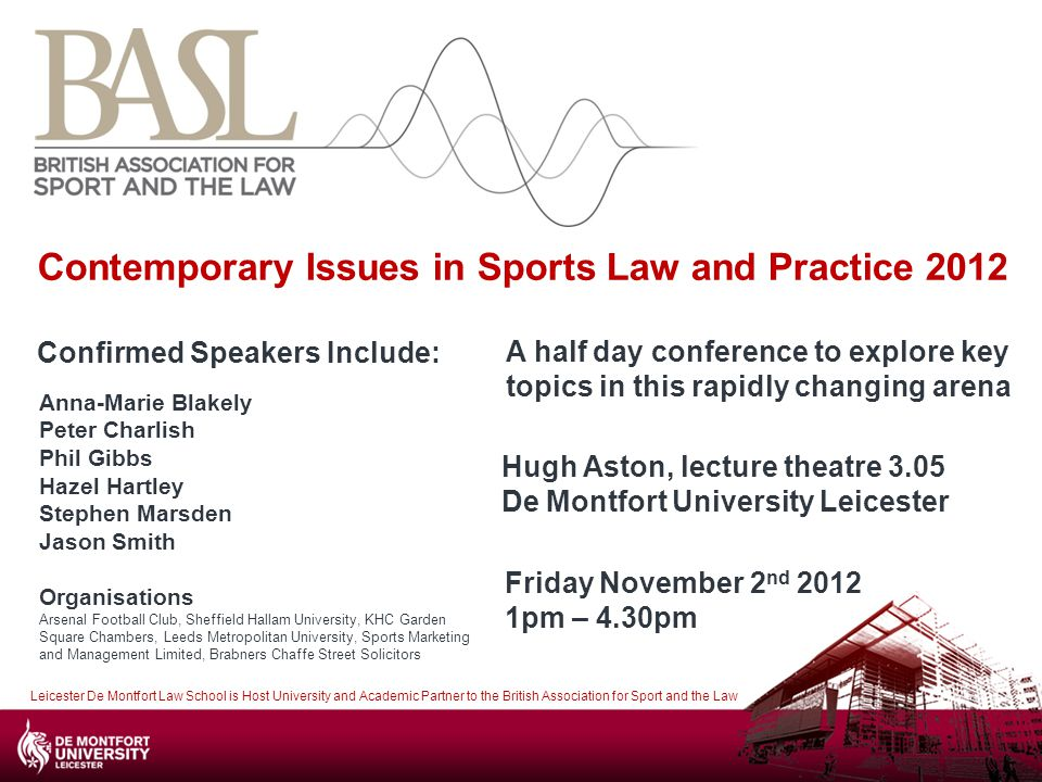 Contemporary Issues in Sports Law and Practice 2012