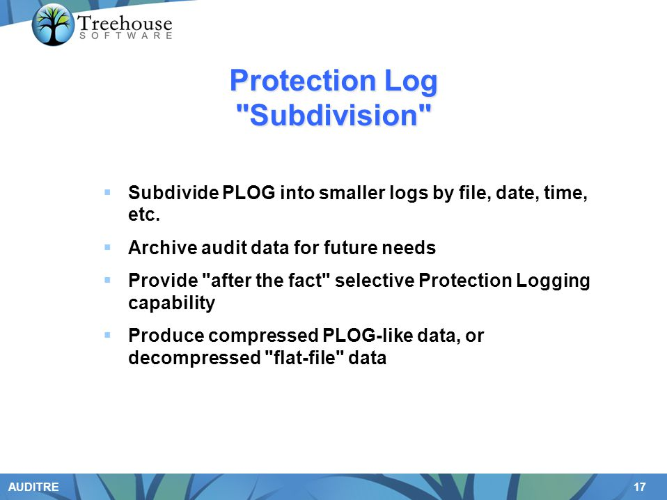 Protection Log Subdivision
