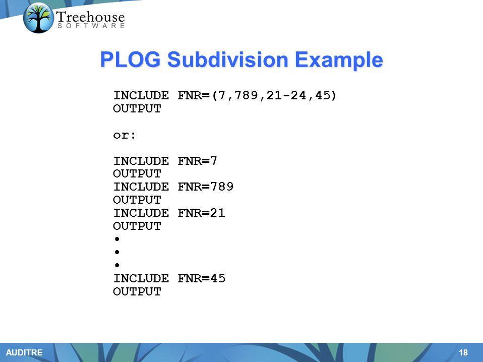 PLOG Subdivision Example