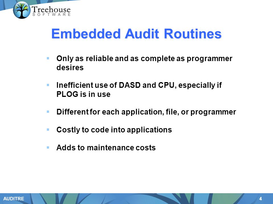 Embedded Audit Routines