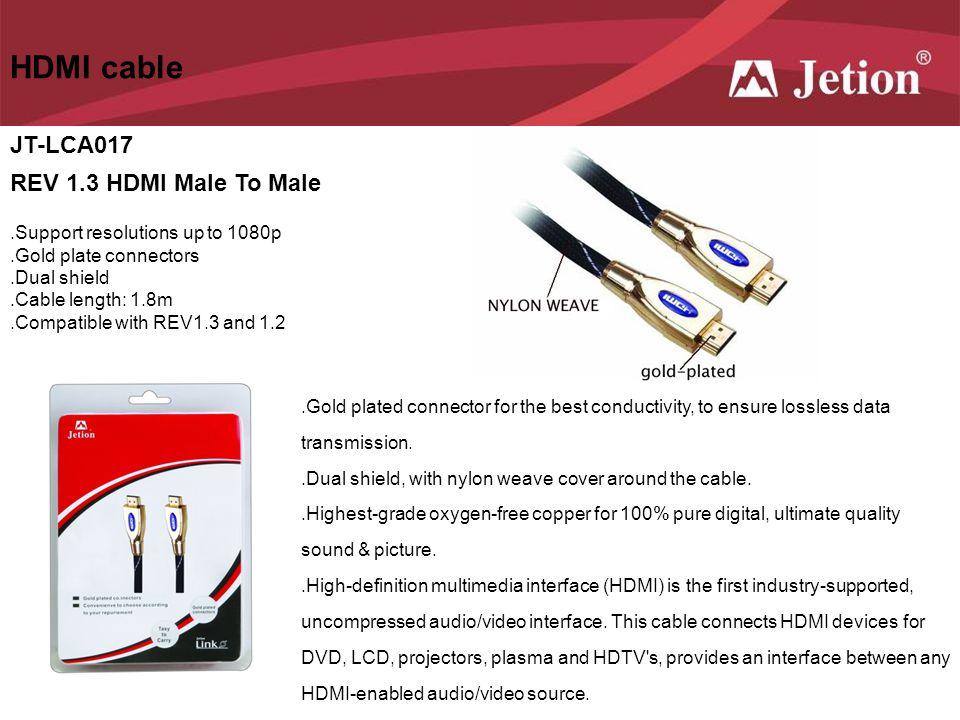 HDMI cable JT-LCA017 REV 1.3 HDMI Male To Male