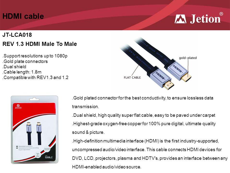 HDMI cable JT-LCA018 REV 1.3 HDMI Male To Male