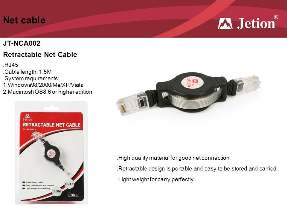 Net cable JT-NCA002 Retractable Net Cable .RJ45 .Cable length: 1.5M