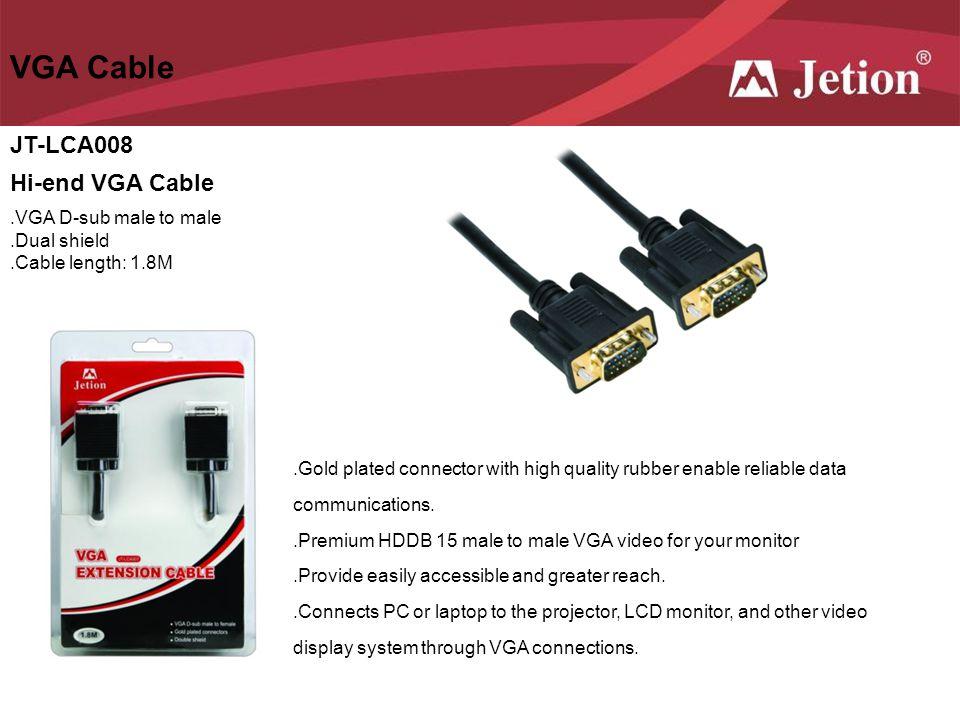 VGA Cable JT-LCA008 Hi-end VGA Cable .VGA D-sub male to male