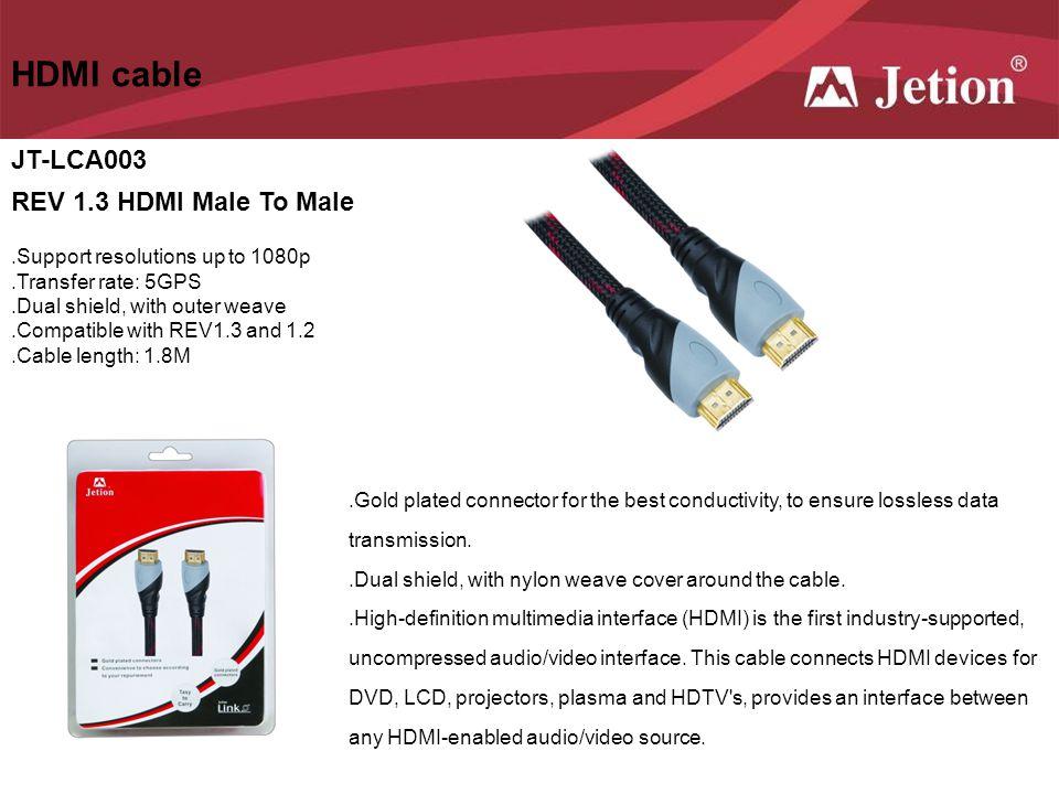 HDMI cable JT-LCA003 REV 1.3 HDMI Male To Male