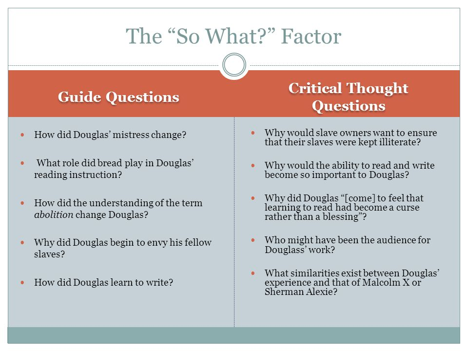 Critical Thought Questions