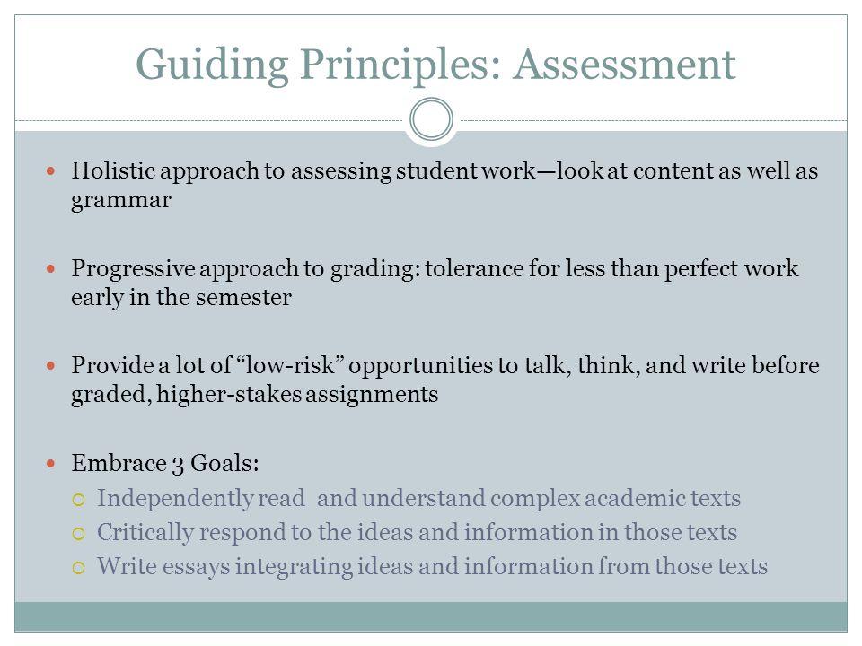 Guiding Principles: Assessment