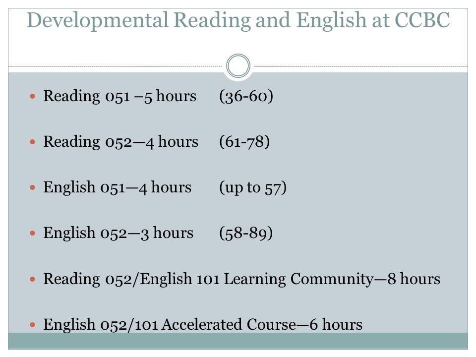 Developmental Reading and English at CCBC