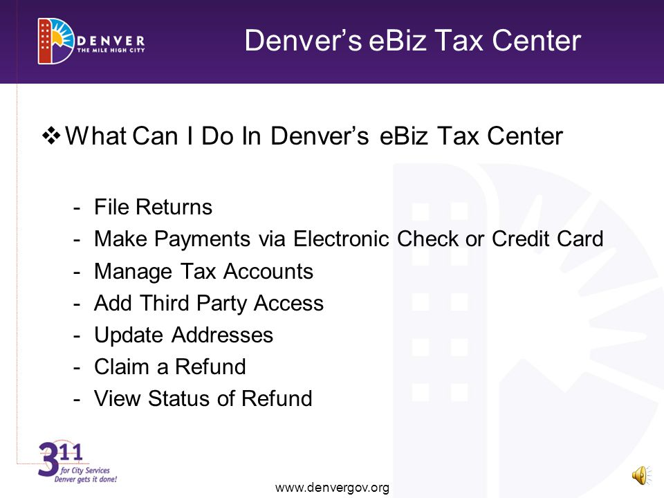 Denver's eBiz Tax Center