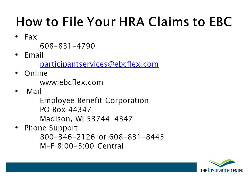 How to File Your HRA Claims to EBC