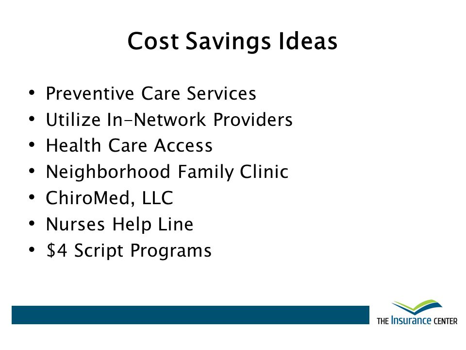 Cost Savings Ideas Preventive Care Services