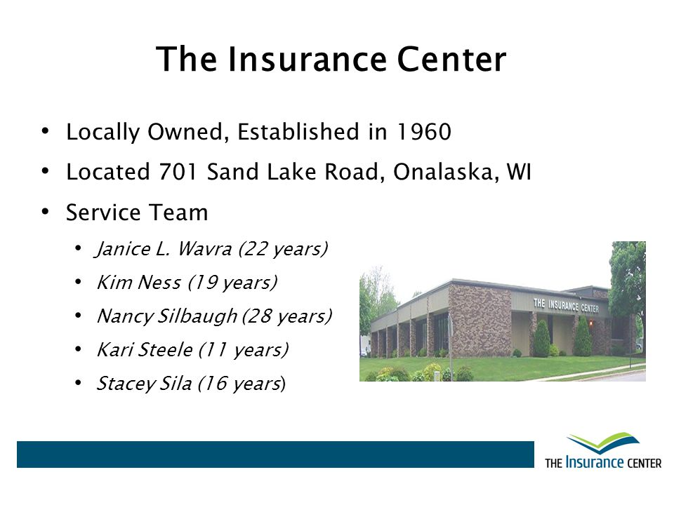 The Insurance Center Locally Owned, Established in 1960