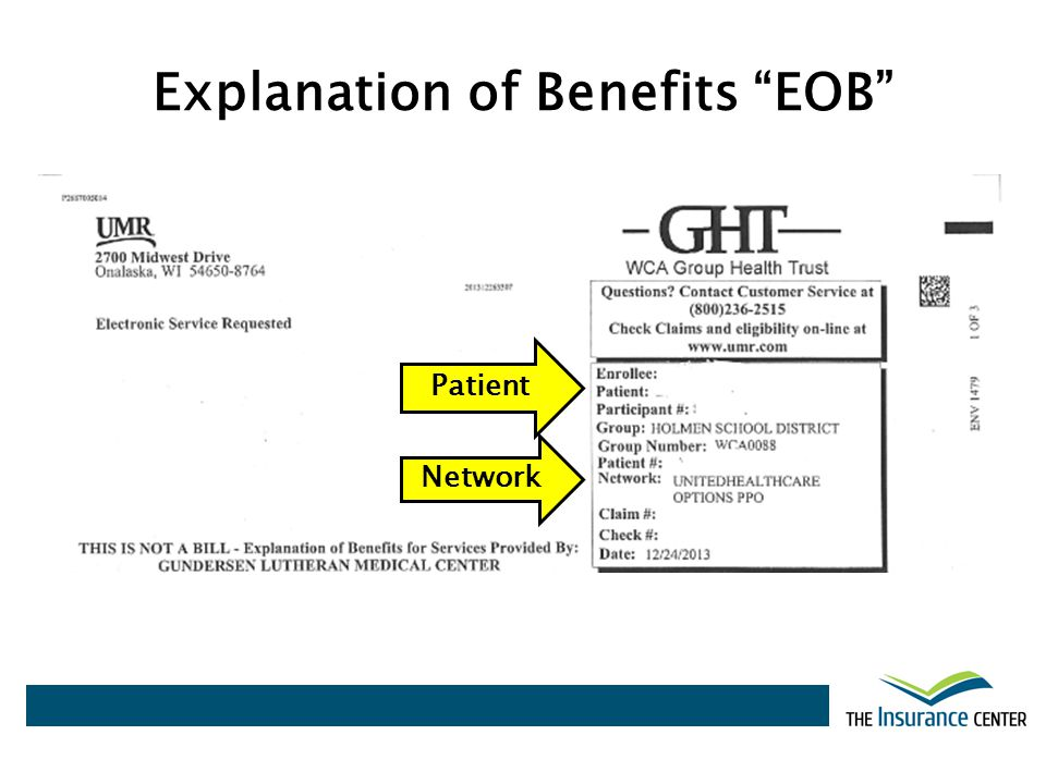 Explanation of Benefits EOB