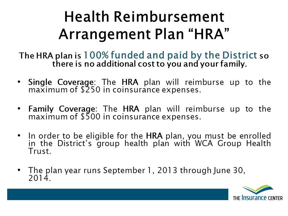Health Reimbursement Arrangement Plan HRA