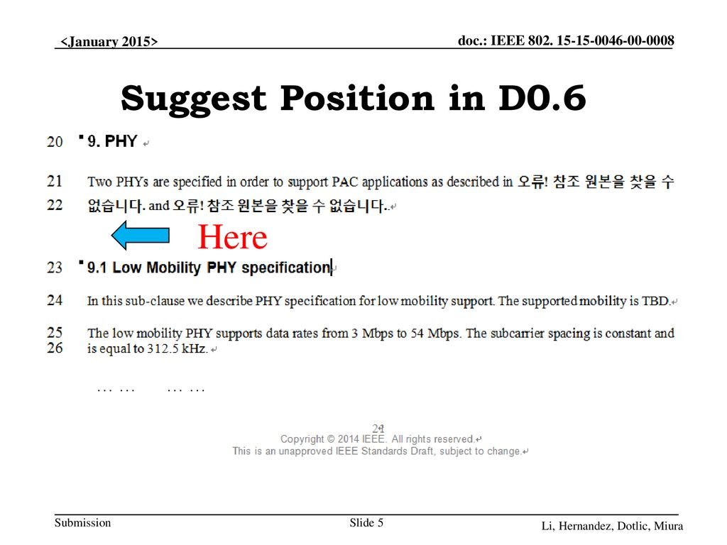 Suggest Position in D0.6 Here … … … …