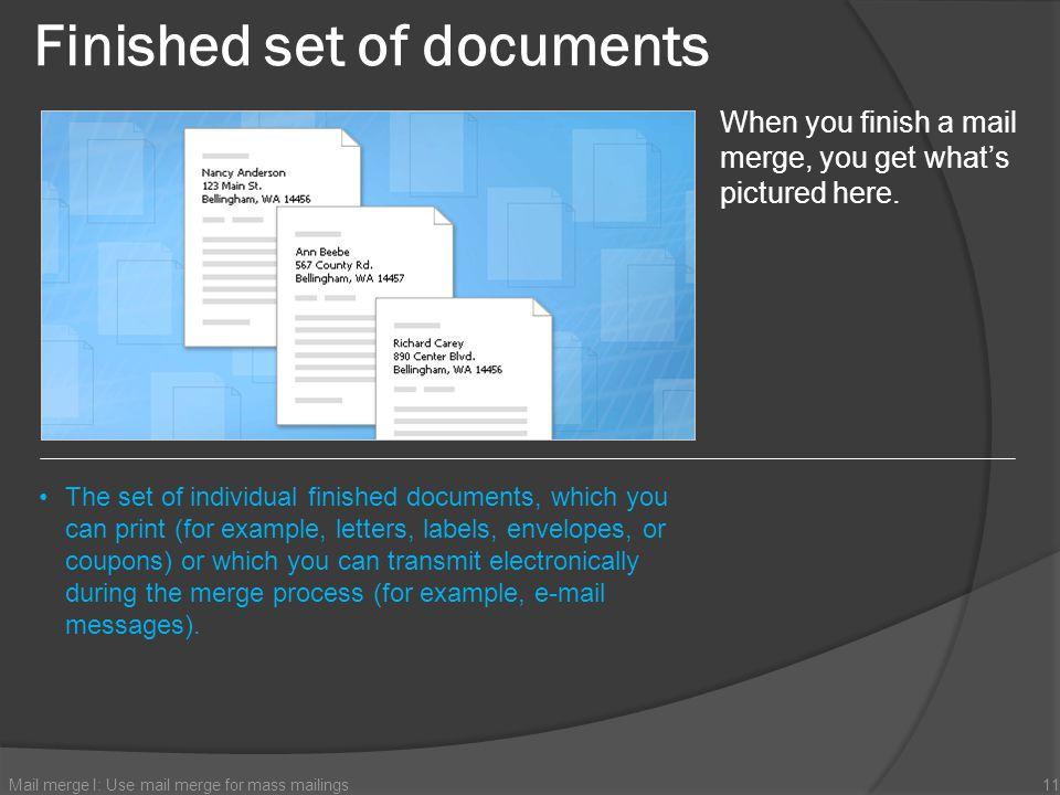 Finished set of documents