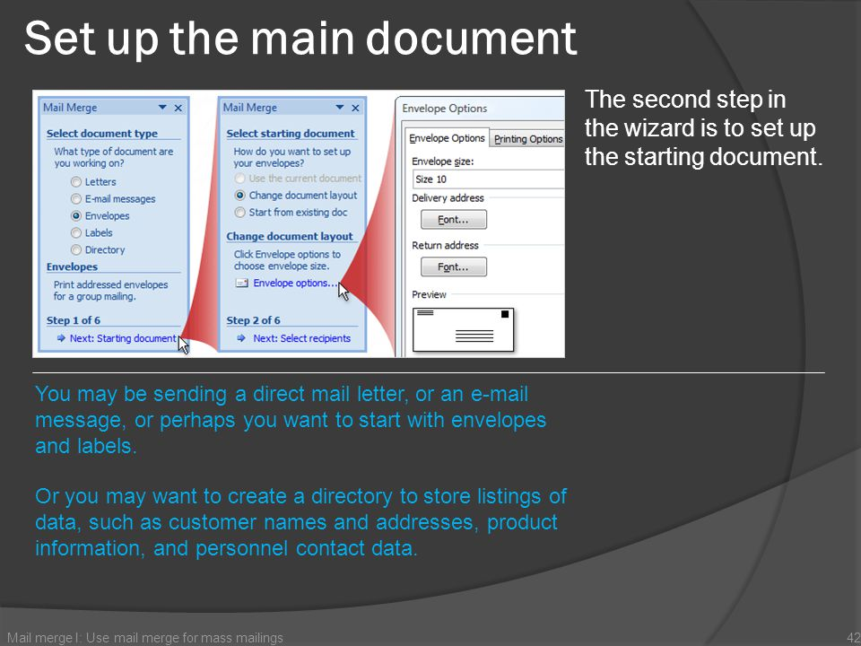 Set up the main document