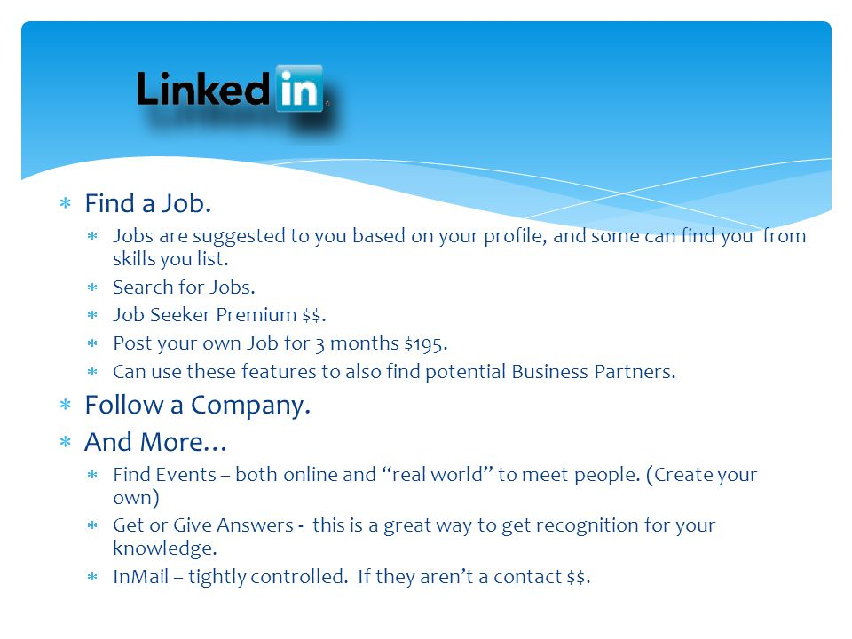 Find a Job. Follow a Company. And More…
