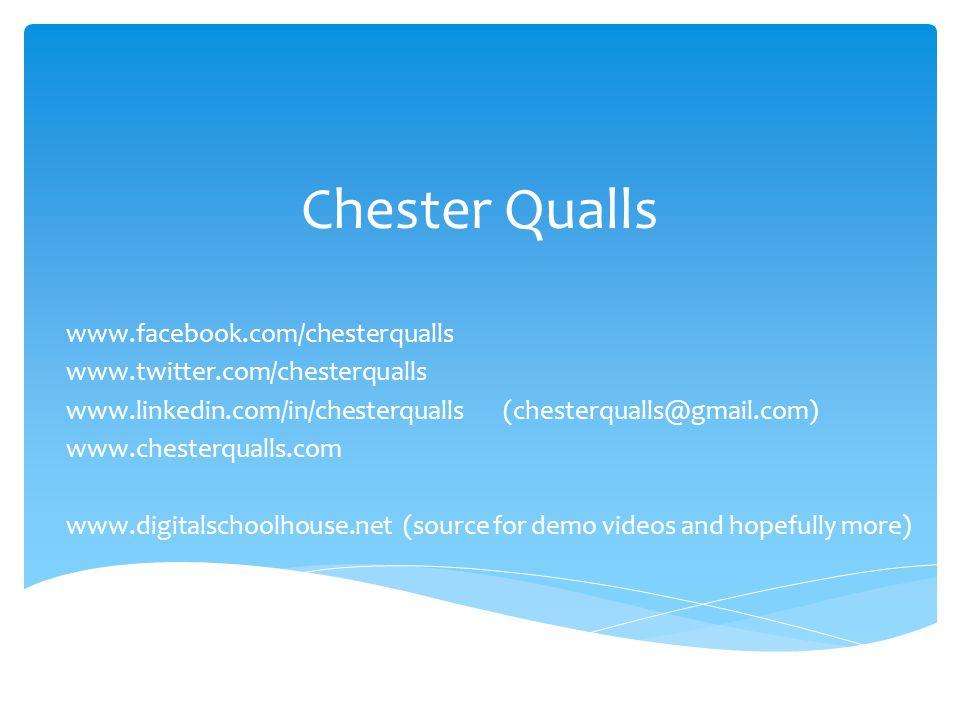 Chester Qualls www.facebook.com/chesterqualls