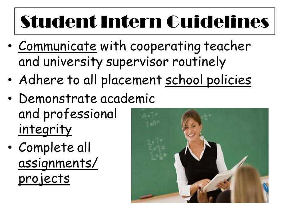 Student Intern Guidelines