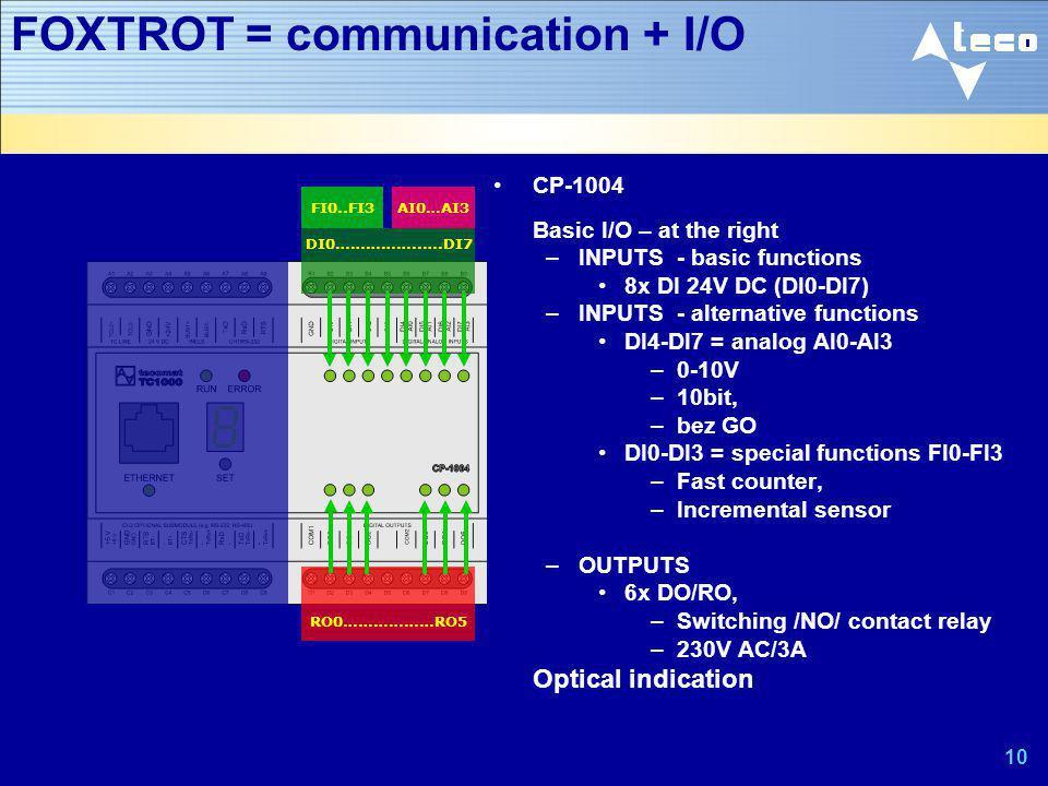 FOXTROT = communication + I/O