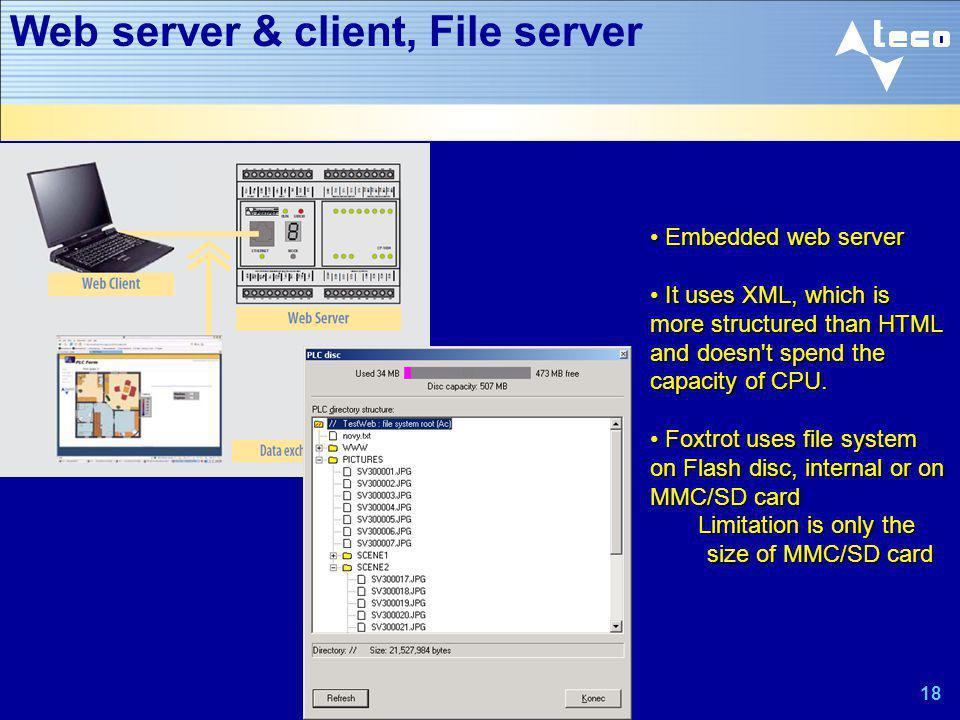 Web server & client, File server
