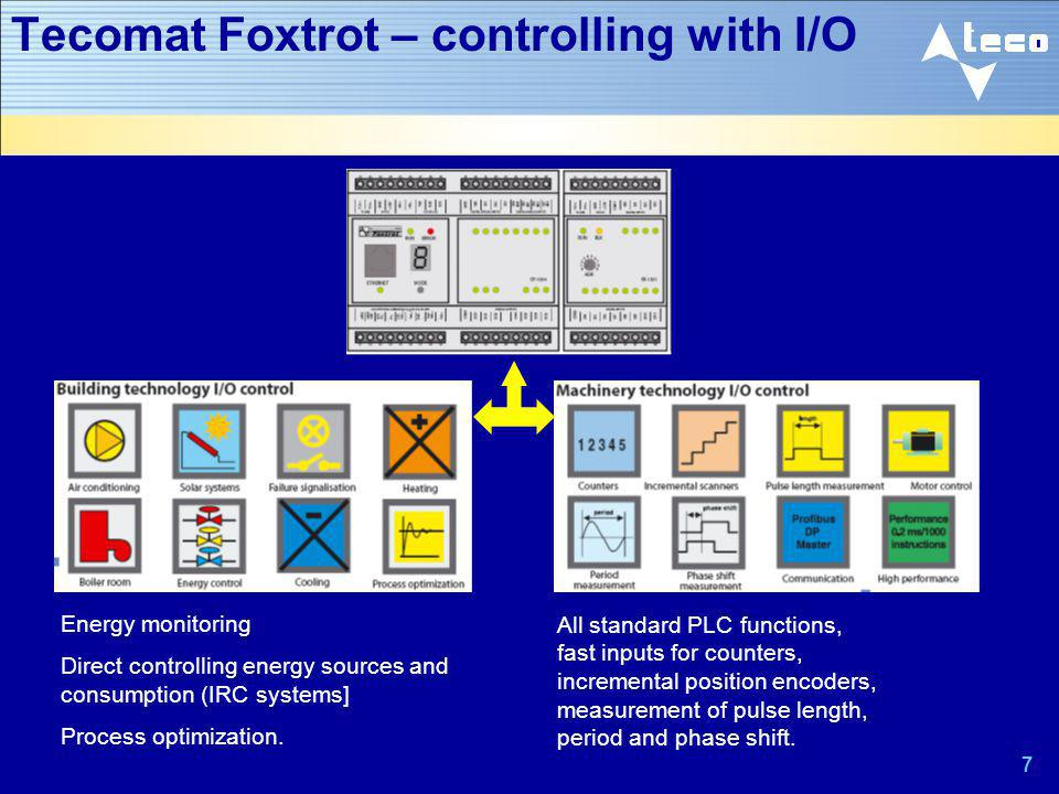Tecomat Foxtrot – controlling with I/O