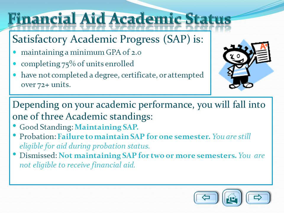 Financial Aid Academic Status