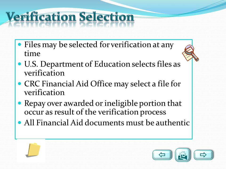 Verification Selection
