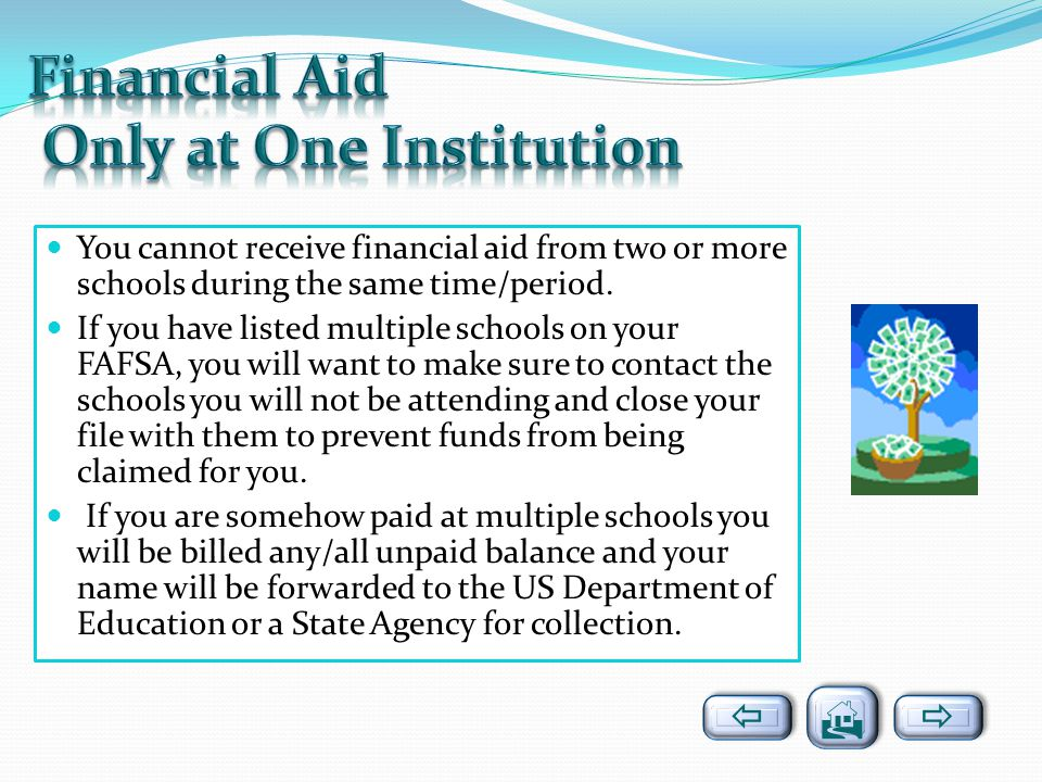 Financial Aid Only at One Institution